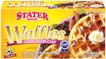 Stater Bros. Chocolate Chip Waffles 10 Ct Box