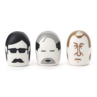 Kikkerland Heads Erasers (3 Pack)