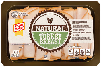 Oscar Mayer Natural Slow Roasted Turkey Breast Cold Cuts 16 oz. Tray