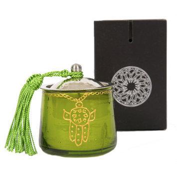Casablanca Market Moroccan Khamsa Jar Candle Color: Green
