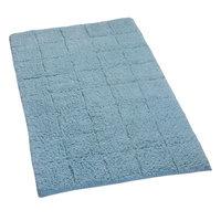 Textile Decor Castle 100% Cotton Summer Tile Spray Latex Back Bath Rug, 34 H X 21 W, Light Blue