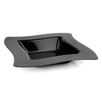 Fineline Settings, Inc Wavetrends 12 oz. Square Wavy-Edge Bowl (Pack of 120), Black
