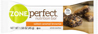 Zone Perfect® Salted Caramel Brownie Nutrition Bar 1.58 oz. Wrapper
