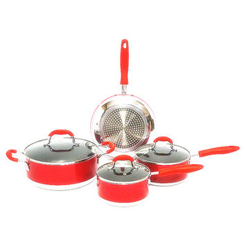 American Trading House, Inc. Gourmet Chef Induction Ready 7-piece Non-stick Cookware Set