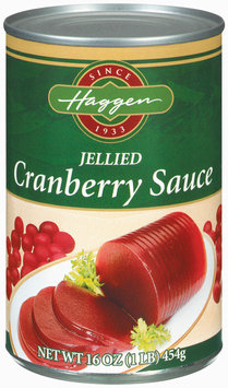 Haggen Jellied Cranberry Sauce 16 Oz Can