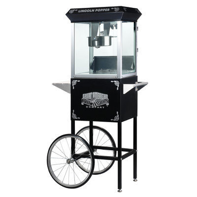 Freeport Park 8 Ounce Antique Popcorn Machine with Cart