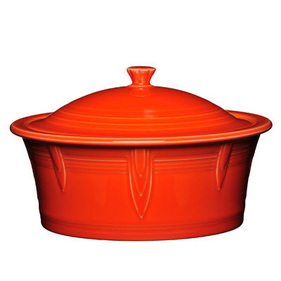 Fiesta 2.81-qt. Round Covered Casserole Color: Poppy