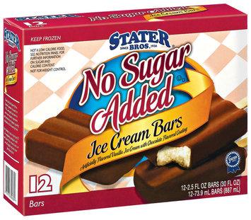 Stater Bros. No Sugar Added 2.5 Oz Ice Cream Bars 12 Ct Box