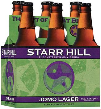 Starr Hill 12 Oz Jomo Lager Beer 6 Pk Glass Bottles