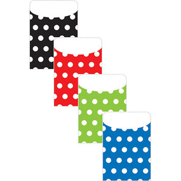 Top Notch Teacher Products TOP6039 Brite Pockets Asst Polka Dots 25Bag- Peel & Stick