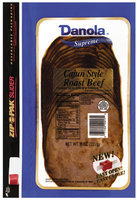 Danola Supreme  Sliced Roast Beef Cajun 8 Oz Zip Pak