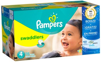Pampers Swaddlers Olympics Size 4 Diapers 116 ct Box