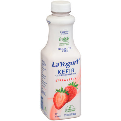 La Yogurt® Kefir Strawberry Lowfat Milk