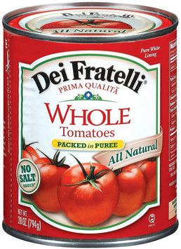 Dei Fratelli Whole Packed In Puree No Salt Added Tomatoes 28 Oz Can