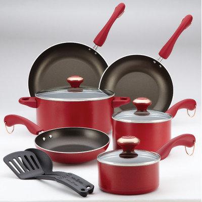Paula Deen Dishwasher Safe 11-pc. Red Cookware Set
