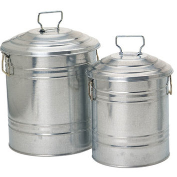 Houston International 2 Piece Galvanized Container Set 6515 S-2