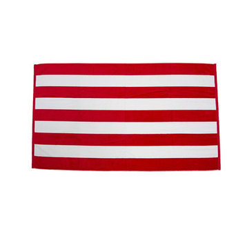 Terry Town Beach Towel Color: Red / White