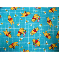 Stwd Pooh Grid Travel Crib Light Fitted Sheet