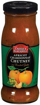 Crosse & Blackwell W/Roasted Garlic Apricot Chardonnay Chutney  7.75 Oz Glass Bottle