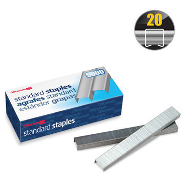 Officemate OIC91900 Standard Chisel Point Staples Pack of 5000
