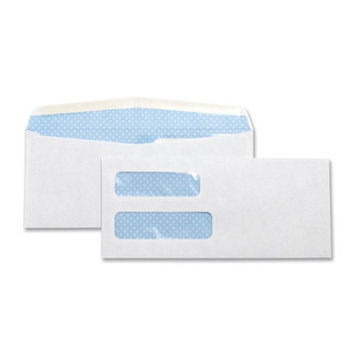 Business Source Business Envelopes Double Window Envelope, No. 10, 4
