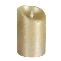 Luminara Metallic Spun Unscented Flameless Candle Size: 7
