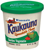 Kaukauna Garden Vegetable Spreadable Cheese 7 Oz Tub