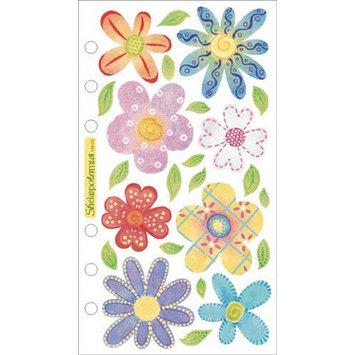 Sticko SPVM-03 Sticko Vellum Stickers-Pastel Flowers