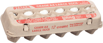 Stater Bros.® Grade AA Large Eggs 12 ct Carton