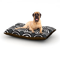 Kess Inhouse 'Art Deco Black' Dog Bed, 28 L x 18 W