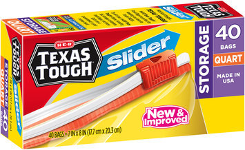 H-E-B Texas Tough® Quart Slider Storage Bags