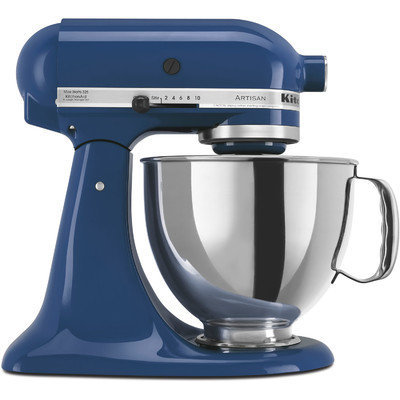 KitchenAid Artisan Series 5 qt. Stand Mixer in Willow Blue with Additional Glass Bowl KSM150PSBW 3 KIT