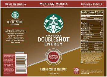 Starbucks® Doubleshot® Energy Mexican Mocha Coffee Drink 15 fl. oz. Can