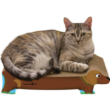 Imperial Cat Small Dog Recycled Paper Cat Scratching Board, Brown Dachshund