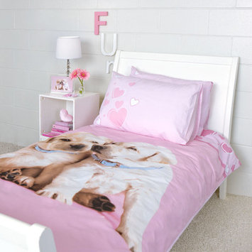 Dissero Brands Puppy Love Duvet Cover Single Bed Set