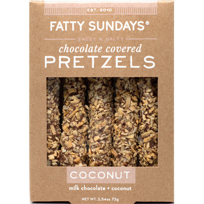 Fatty Sundays Coconut Milk Chocolate Covered Pretzels