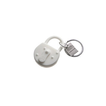 Areaware Lock Keychain Color: White