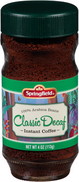 Springfield® Classic Decaf Instant Coffee 4 oz. Jar