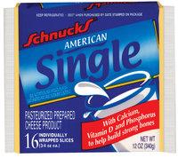 Schnucks American Single Cheese 12 Oz Wrapper
