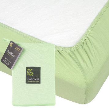 Kushies Organic Jersey Fitted Crib Sheet - Green