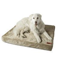 Posh365 Luxury Orthopedic Foam Dog Bed Size: Large, Color: Tan