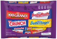 Nestlé 100 Grand/Baby Ruth/Butterfinger/Crunch Variety Pack Candy 16 oz. Bag