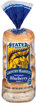 Stater Bros. Blueberry Country Harvest 6 Ct Bagels 18 Oz Bag