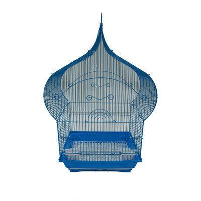Yml Taj Mahal Top Shape Bird Cage Color: Blue