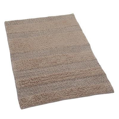 Textile Decor Castle 100% Cotton Wide Cut Reversible Bath Rug, 34 H X 21 W, Natural