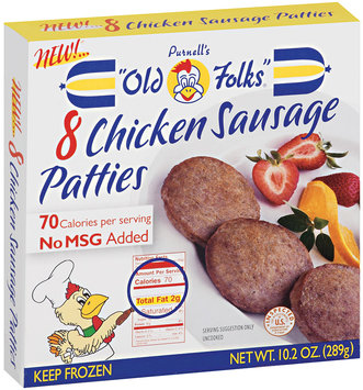 Purnell's Old Folks® Chicken Sausage Patties 8 ct Box