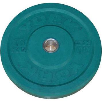 York Barbell Training Bumper Plate Weight: 22 lbs