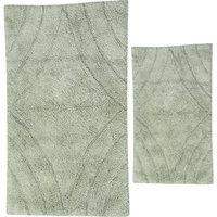 Textile Decor Castle 2 Piece 100% Cotton Diamond Spray Latex Bath Rug Set, 24 H X 17 W and 30 H X 20 W