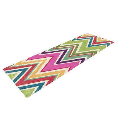 Kess Inhouse Clash Of Color by Heidi Jennings Rainbow Chevron Yoga Mat