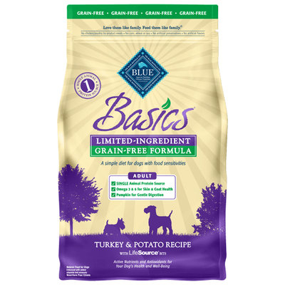 THE BLUE BUFFALO CO. BLUE™ Basics® Grain-Free Turkey & Potato Recipe For Adult Dogs
